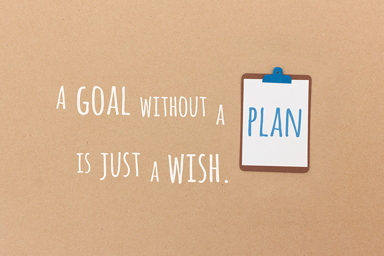 A goal without a plan is just a wish - paper-cut illustration by Marie Maerz